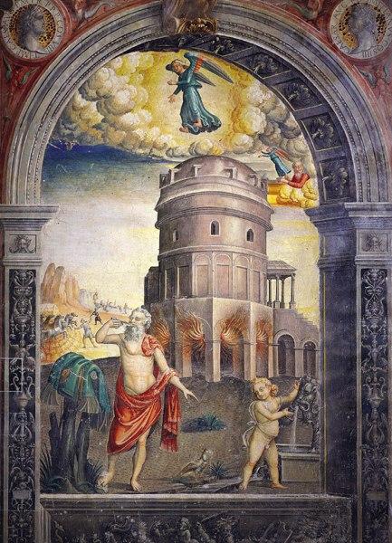 Картина в Зале Зодиака Фальконетто, посвященная созвездию Девы.