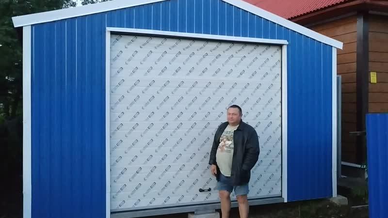 Гараж Торус с подъемными секционными воротами