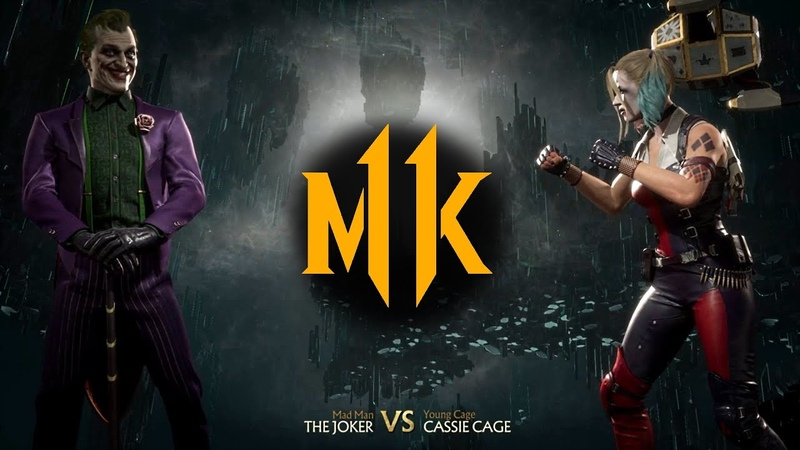 Mortal Kombat 11 - The Joker vs. Harley Quinn (Cassie Cage)