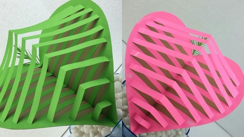 3D Heart Pop Up Card Tutorial | Heart Card | Pop Up Card Heart