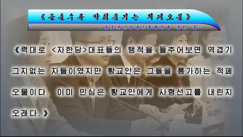 《들출수록 악취풍기는 적페오물》-남조선인터네트홈페지에 실린 글- 외 1건