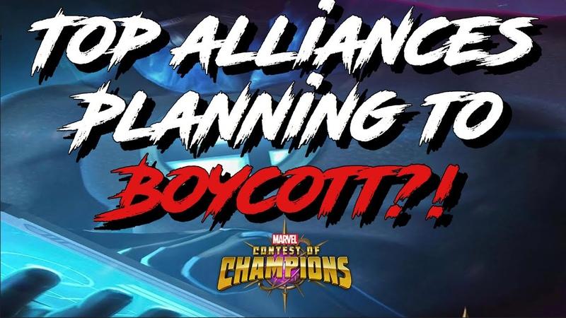 Top alliances boycotting MCOC Marvel Contest of Champions
