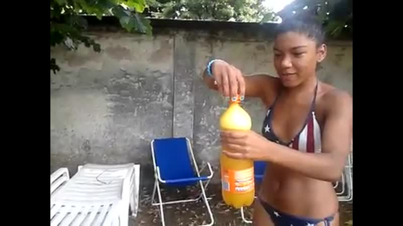 Claudelice playing in pool