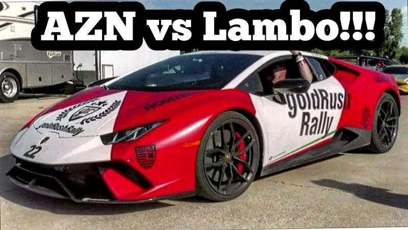 Azn in Jeeper Sleeper vs Lamborghini at the Gold Rush Rally