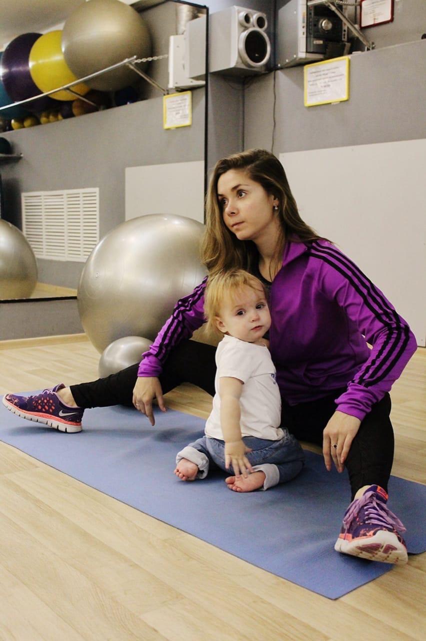 Фитнес для мам совместно с детьми ☺