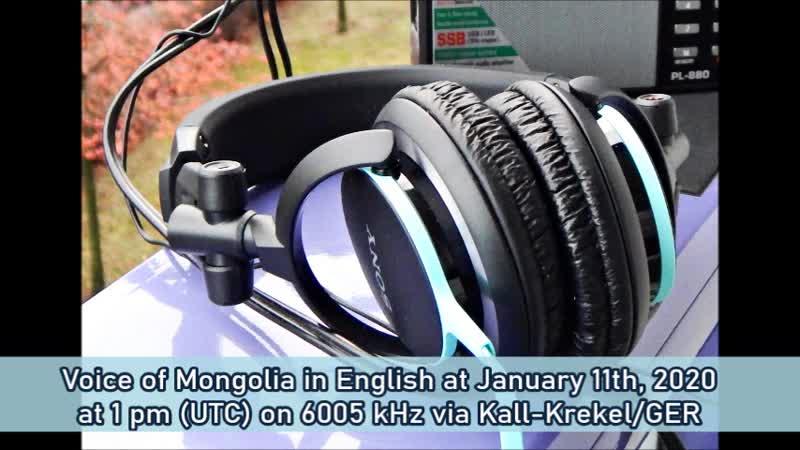 Stimme der Mongolei in Englisch am 11.01.2020 um 13 Uhr (UTC) auf 6005 kHz via Kall-Krekel/GER