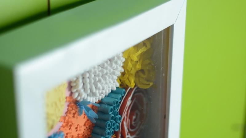 Как сделать глубокую рамку своими руками DIY shadowbox из картона