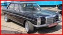 Vintage Mercedes W114. Restored Mercedes W114. Classic Benz