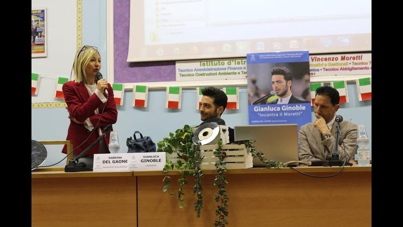 Gianluca Ginoble ospite dell'Istituto Moretti di Roseto