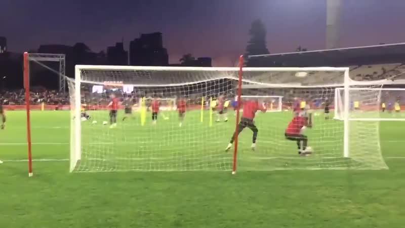 Video Rashford goal in Perth training today mulive @FootballWest