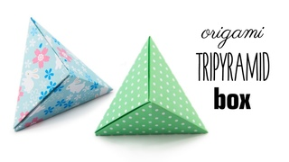 Origami Tripyramid Box Tutorial - 1 Sheet Fox Box (David Donahue) - Paper Kawaii