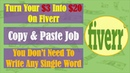 How To Turn Your $3 Into $20 On Fiverr Simple Copy Paste Job Make Money On Fiverr Without Any Skills