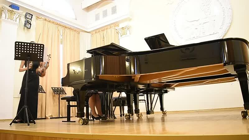 Вайнберг. Соната для скрипки и фортепиано №5 в 4 ч. Исп. А.Кугачева и М.Прошина (1)