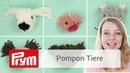 Pompon Tiere selber machen mit dem Prym Love Pompon Set und DIY Eule