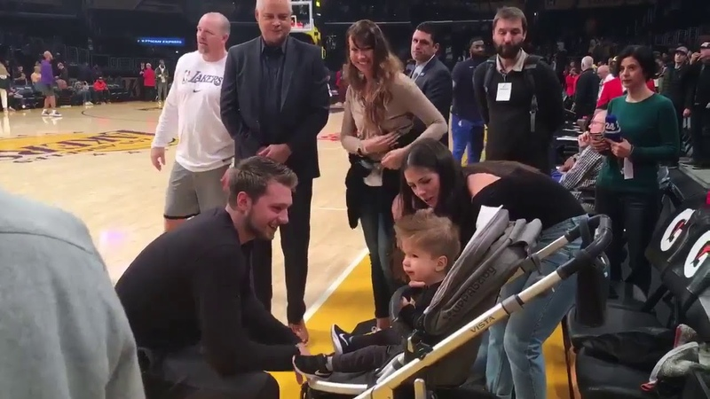 Luka Dončić meet Kris a kid from Slovenia who's been medically treated in LA