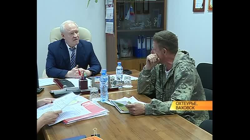 Глава района Борис Саломатин провел рабочий день в Ваховске и Охтеурье