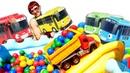 Автобусы Тайо на прогулке Большие машинки и сухой бассейн Видео для детей Капуки Кануки