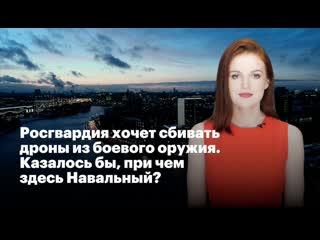 Росгвардия хочет сбивать дроны из боевого оружия. казалось бы, при чем здесь навальный?