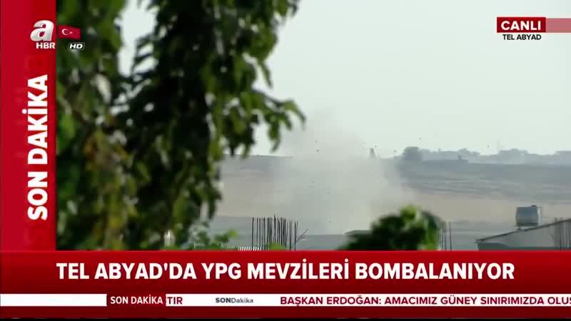 Syrie Les obusiers de Turquie T-155 Fırtına et les F-16C pilonnent et bombardent des bases des SDF près de la frontière.