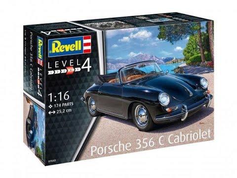 Обзор содержимого коробки сборной масштабной модели фирмы Revell: автомобиль PORSCHE 356 CABRIOLET в 1/16 масштабе. Автор и ведущий: Кирилл Колосков. i-modelist.ru/goods/model/avto-moto/revell/52489.html