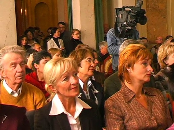 27.09.2005. Б. Полоскин в музее политической истории. Открытие выставки