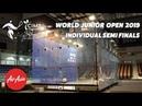 WSF World Junior Open 2019 - Individual Semi Finals Replay