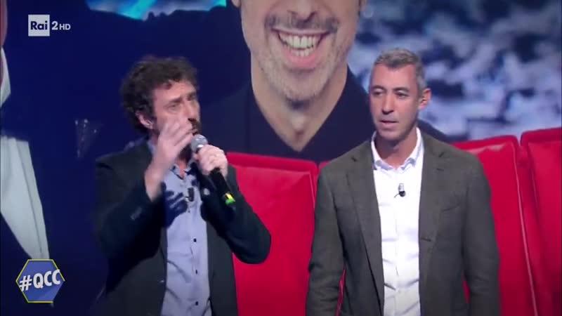 Luca e Paolo Bugo non c'è Quelli che il calcio 09 02 2020