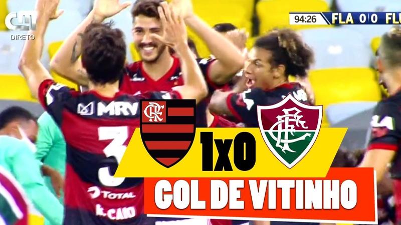 Flamengo 1x0 Fluminense - Gol de Vitinho com Narração Portuguesa   Final Campeonato Carioca 2020