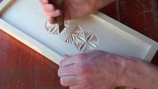 Геометрическая резьба по дереву. Урок 35 часть 5 (geometric wood carving)