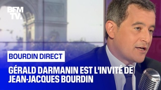 Gérald Darmanin face à Jean-Jacques Bourdin en direct