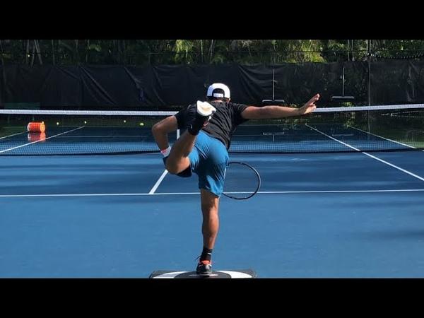 Tennis training Serve landing drills with Coach Brian Dabul