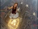 Fearless Roofer Angela Nikolau. No limit no control VERY CRAZY