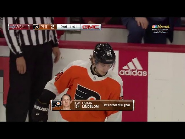 Видео Oskar Lindblom's First NHL Goal! - Philadelphia Flyers vs Washington Capitals 3 18 18 смотреть онлайн