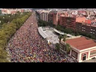 Более 500 тысяч человек в Барселоне на акции протеста NR