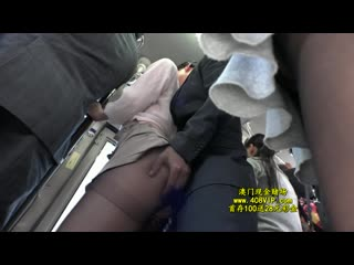 Sw-378 - dressed in a black pantyhose ol molested in a crowded bus 5.720p