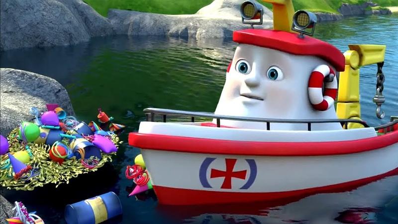 Мультики для детей про кораблики. Элаяс, новая серия. Мусорная куча