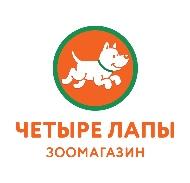 Сеть зоомагазинов четыре лапы-logo