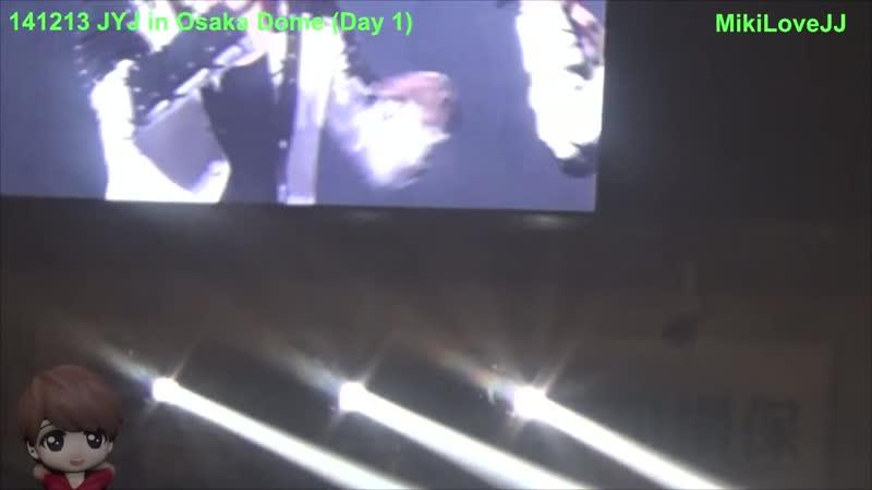 Fancam 141213 JYJ In Osaka Dome Long Ment 💚 Jaejoong 김재중 ジェジュン