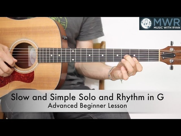 How to play slow solos and rhythm in G for Bluegrass!