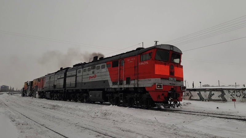 2ТЭ10М 2219 и СС 1М Подустали