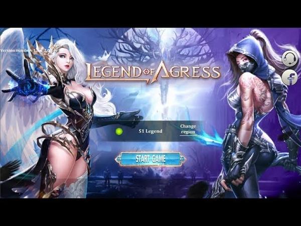 Legend of Agress Gameplay Обзор Первый взгляд Летсплей (Android,APK)