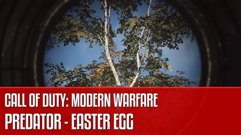 Predator w Call of Duty: Modern Warfare - easter egg