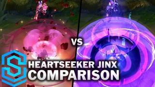 Heartseeker Jinx VS All Previous Skins Skin Comparison