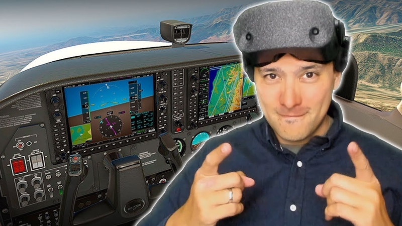 HP Reverb XPlane 11 Through The Lens Video No Other VR Headset Looks As Good As This