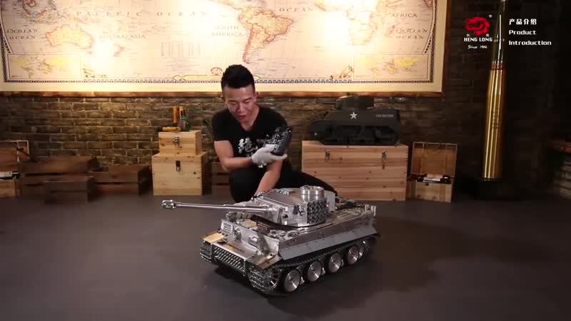 Радиоуправляемый танк Heng Long German Tiger I масштаб 1 8 RTR 2 4G HL00X