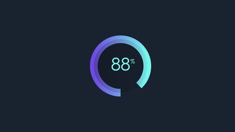Circular Progress Bar Using HTML CSS JS 2020