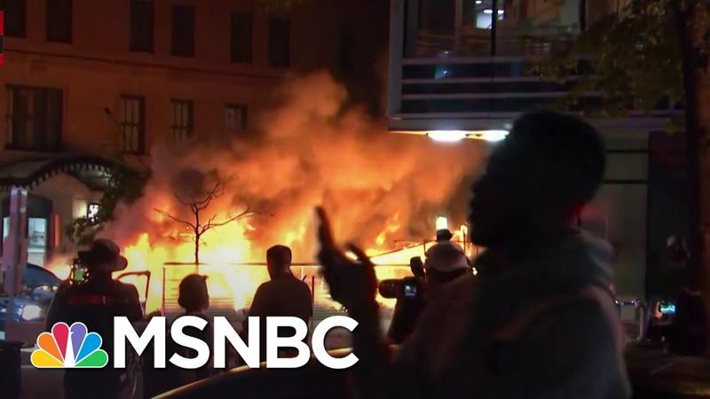 Car Burns In Washington D C Amid George Floyd Protesting MSNBC