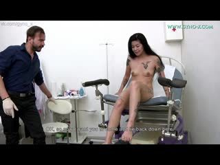 Gyno-X Akasha Coliun [Medical Fetish, Gyno Exam, Asian, Close Ups, Teen, Vaginal Enema, Tiny Tits, Brunette, Masturbation]