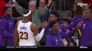 LeBron James Over The Shoulder To Danny Green Warriors vs Lakers October 16 2019