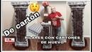 PILAR O PEDESTAL DE CARTON CON CARTONES DE HUEVO 1